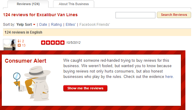 Yelp Buying Reviews