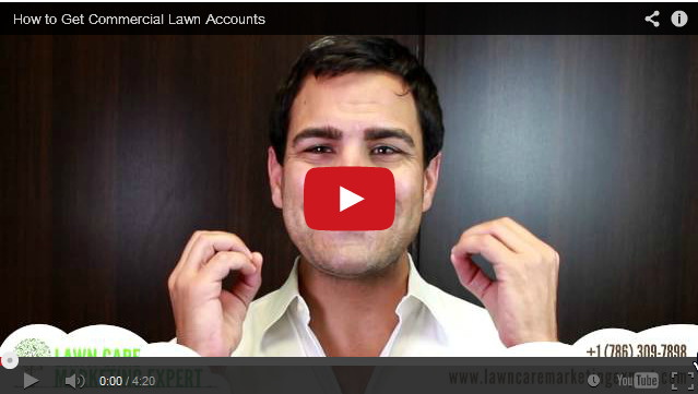 How to Get Commercial Lawn Accounts